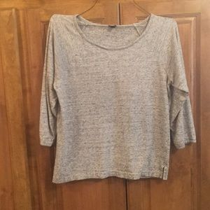 J crew 3/4 length terry sweat shirt